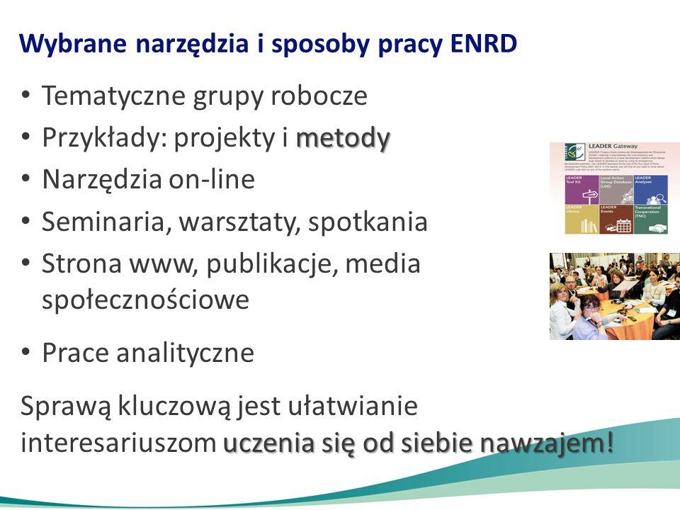 Wybrane narzędzia i sposoby pracy ENRD