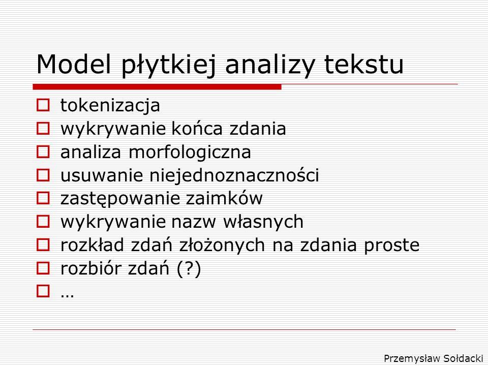 Model płytkiej analizy tekstu