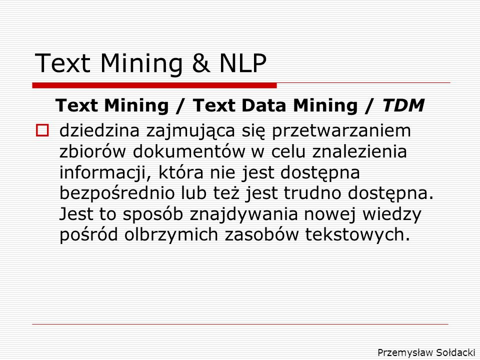 Text Mining / Text Data Mining / TDM