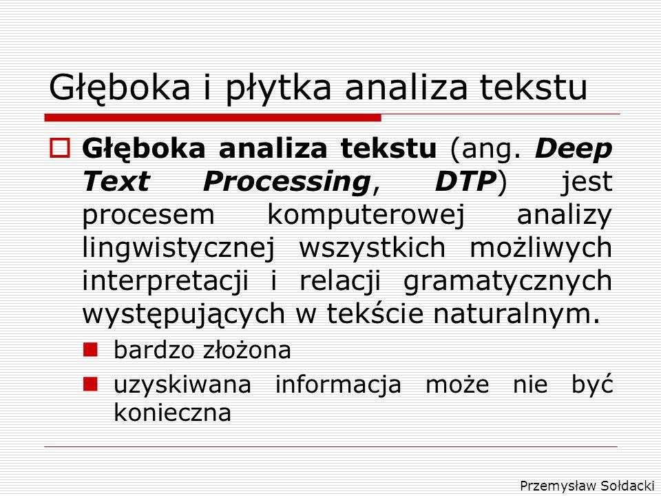 Głęboka i płytka analiza tekstu