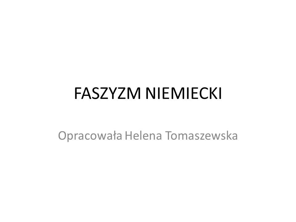 Opracowała Helena Tomaszewska