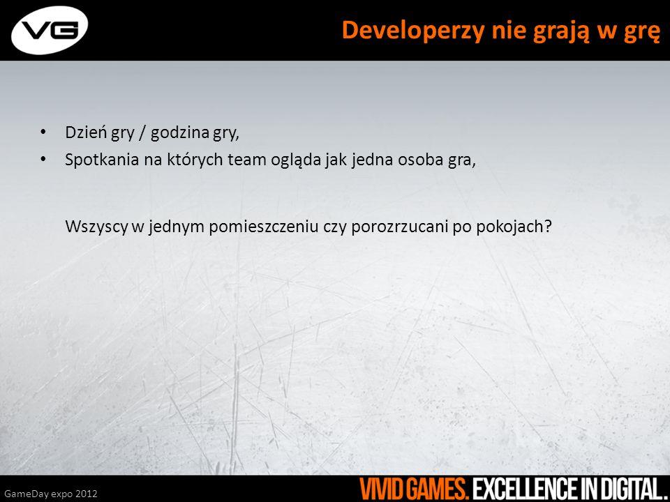 Developerzy nie grają w grę