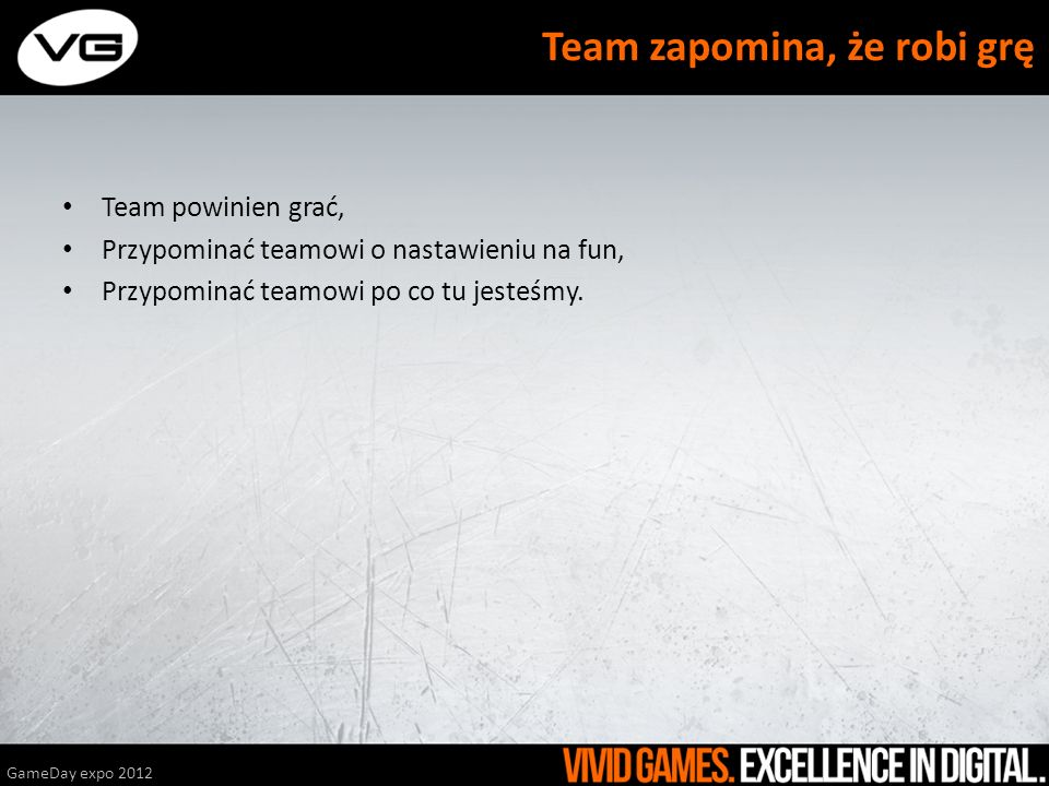 Team zapomina, że robi grę