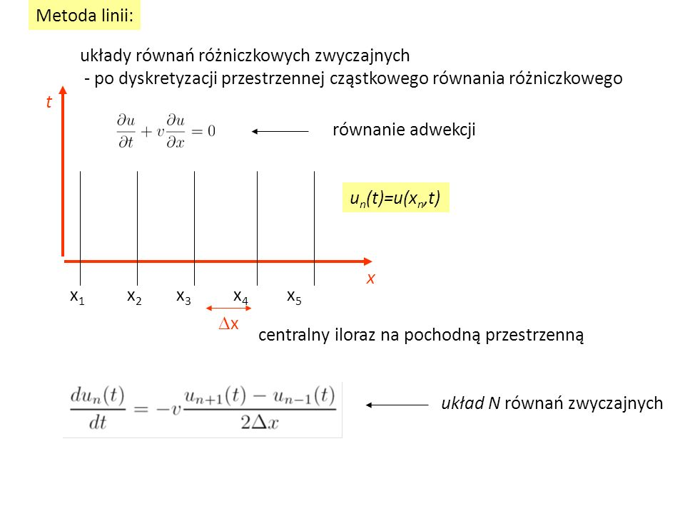 układy równań różniczkowych zwyczajnych