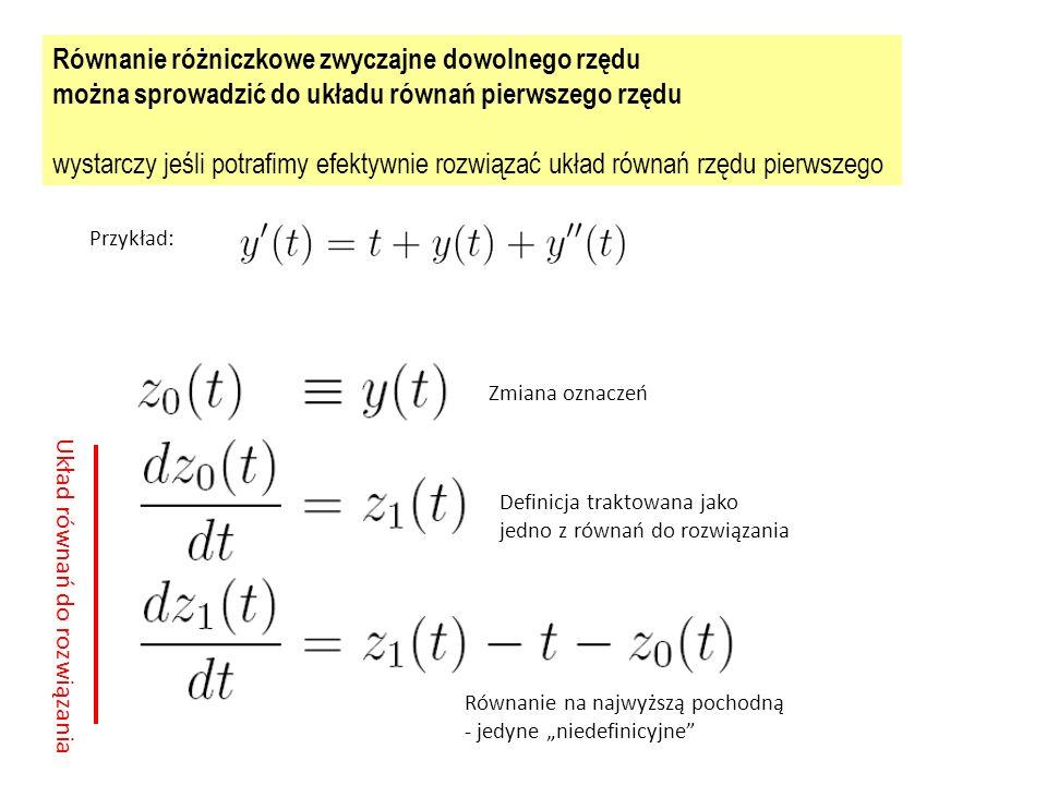 Równanie różniczkowe zwyczajne dowolnego rzędu