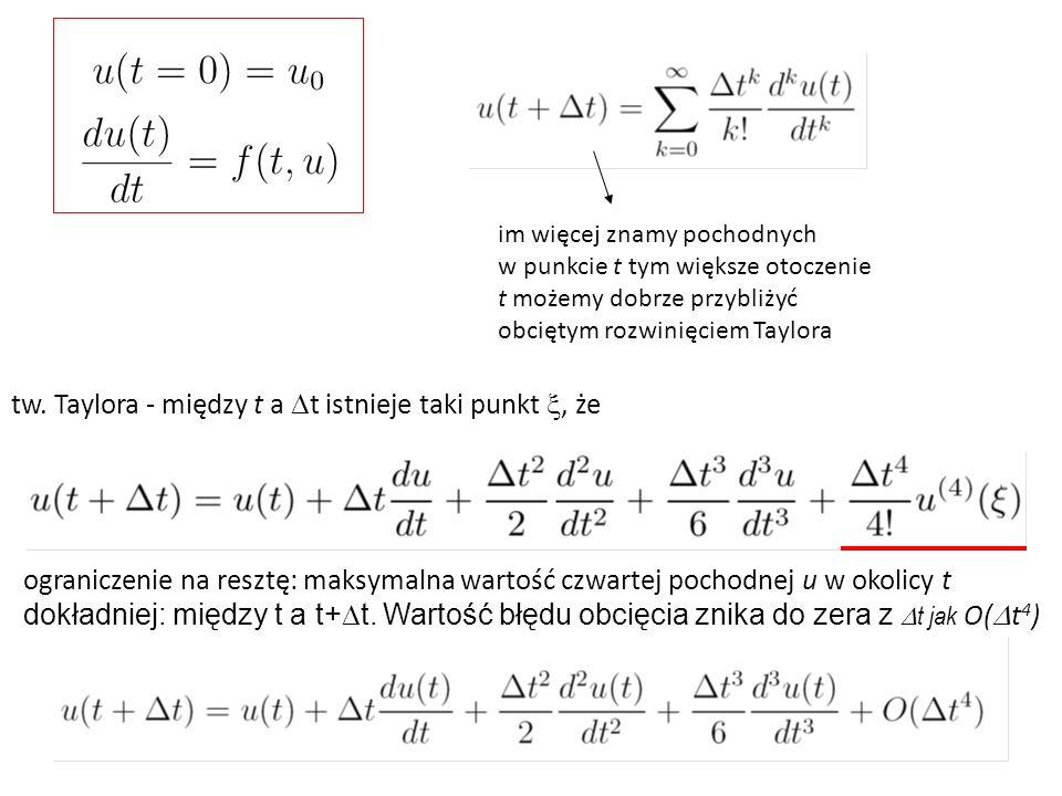 tw. Taylora - między t a Dt istnieje taki punkt x, że