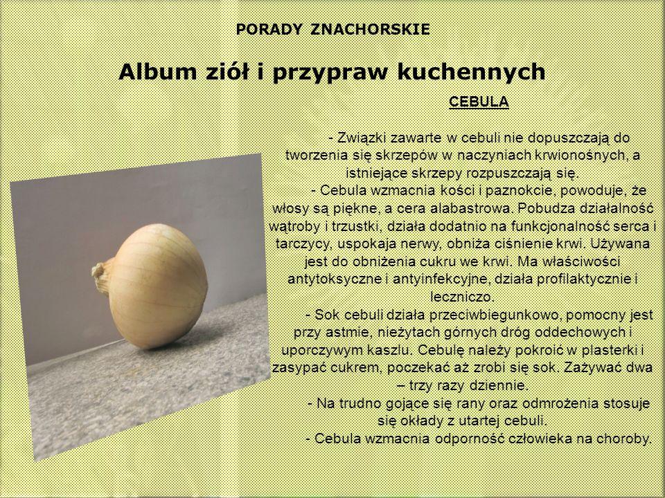 Album ziół i przypraw kuchennych