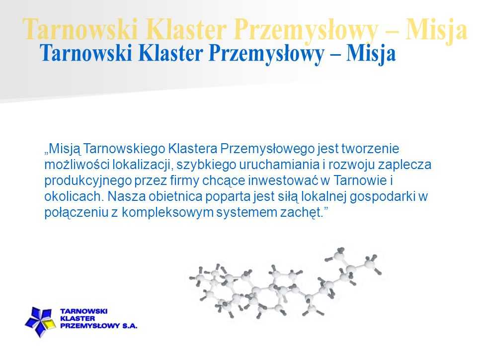 Tarnowski Klaster Przemysłowy – Misja