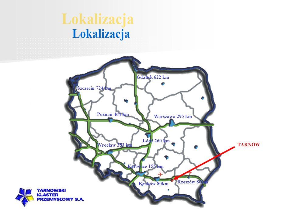 Lokalizacja Gdańsk 622 km Szczecin 724 km Poznań 464 km