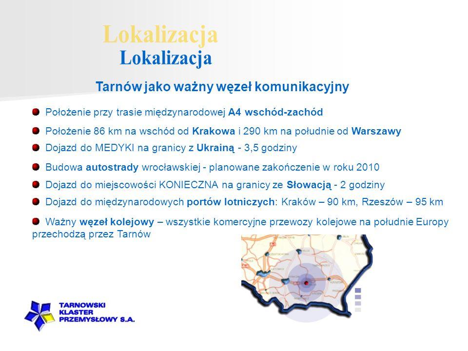 Lokalizacja Tarnów jako ważny węzeł komunikacyjny