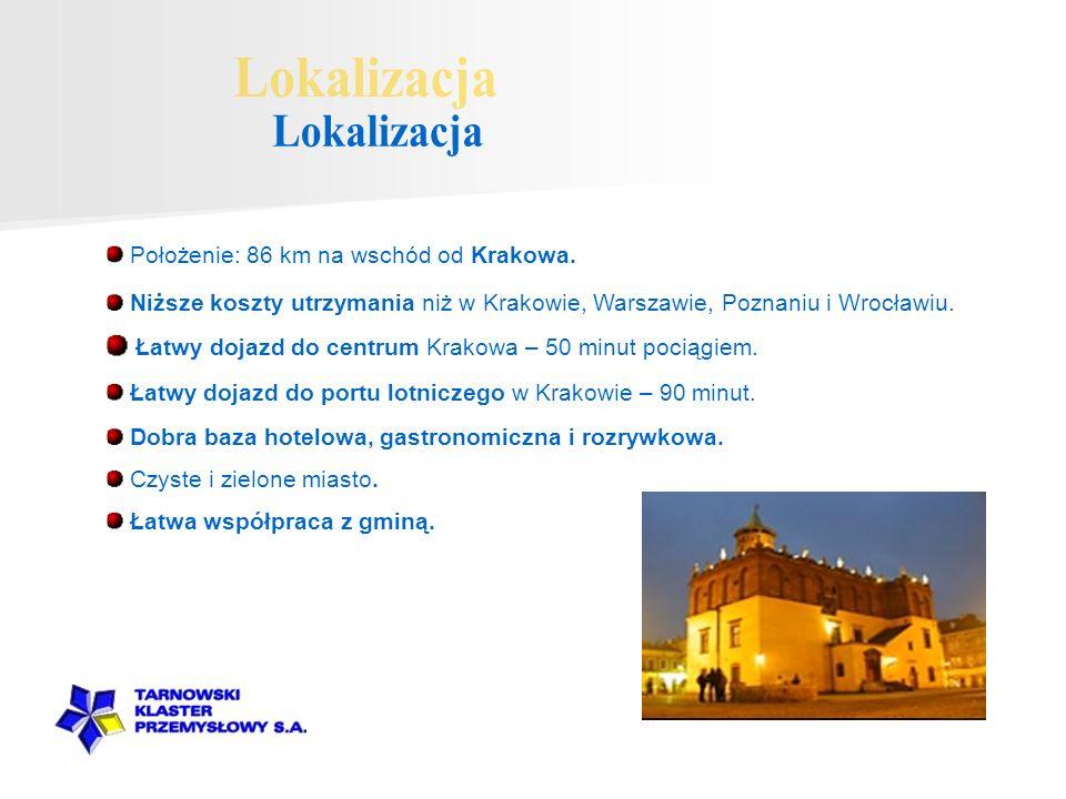 Lokalizacja Łatwy dojazd do centrum Krakowa – 50 minut pociągiem.