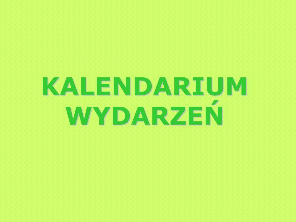 KALENDARIUM WYDARZEŃ