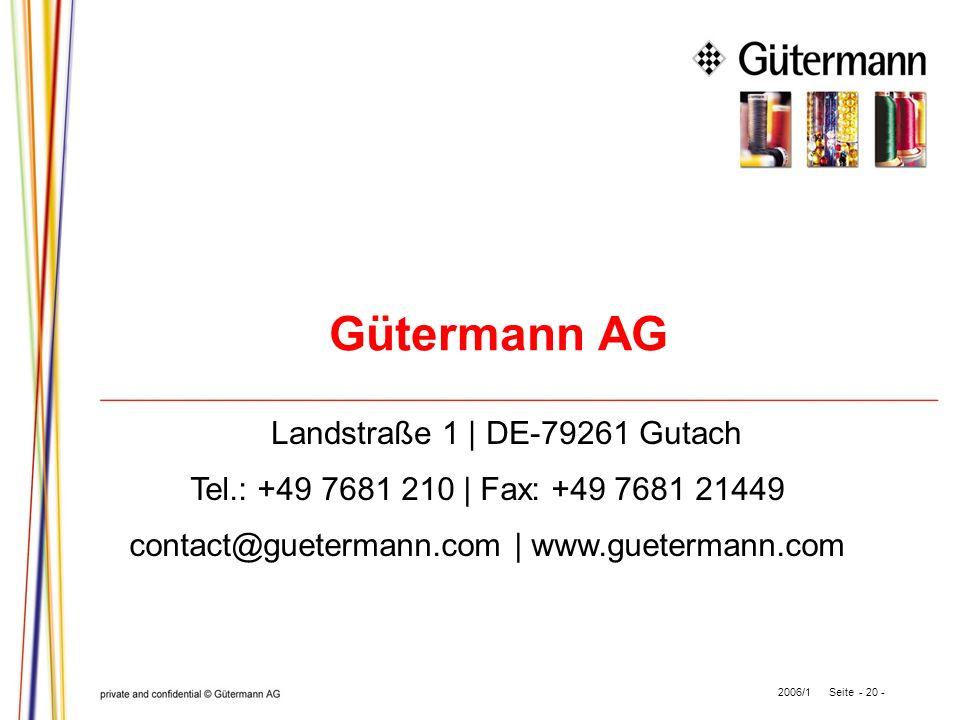 Landstraße 1 | DE-79261 Gutach