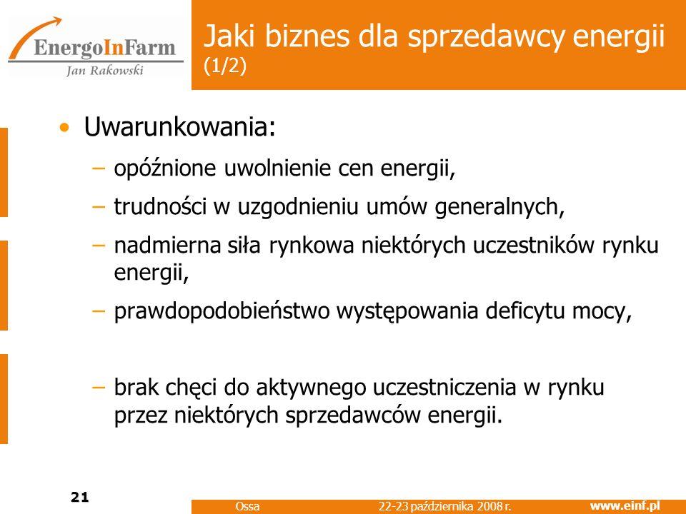 Jaki biznes dla sprzedawcy energii (1/2)