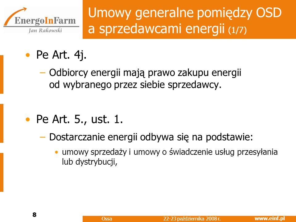 Umowy generalne pomiędzy OSD a sprzedawcami energii (1/7)