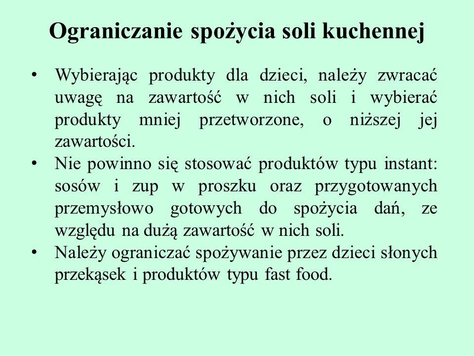 Ograniczanie spożycia soli kuchennej