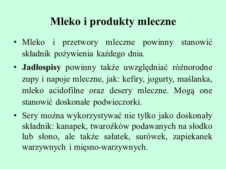 Mleko i produkty mleczne