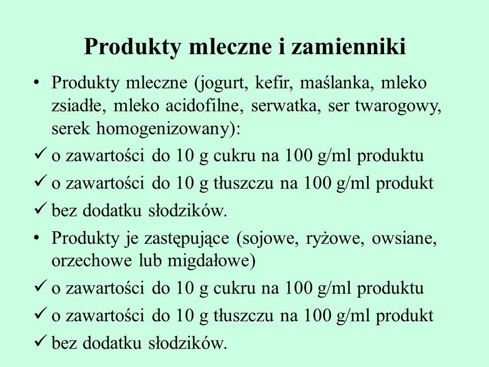 Produkty mleczne i zamienniki