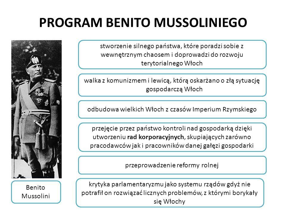 PROGRAM BENITO MUSSOLINIEGO