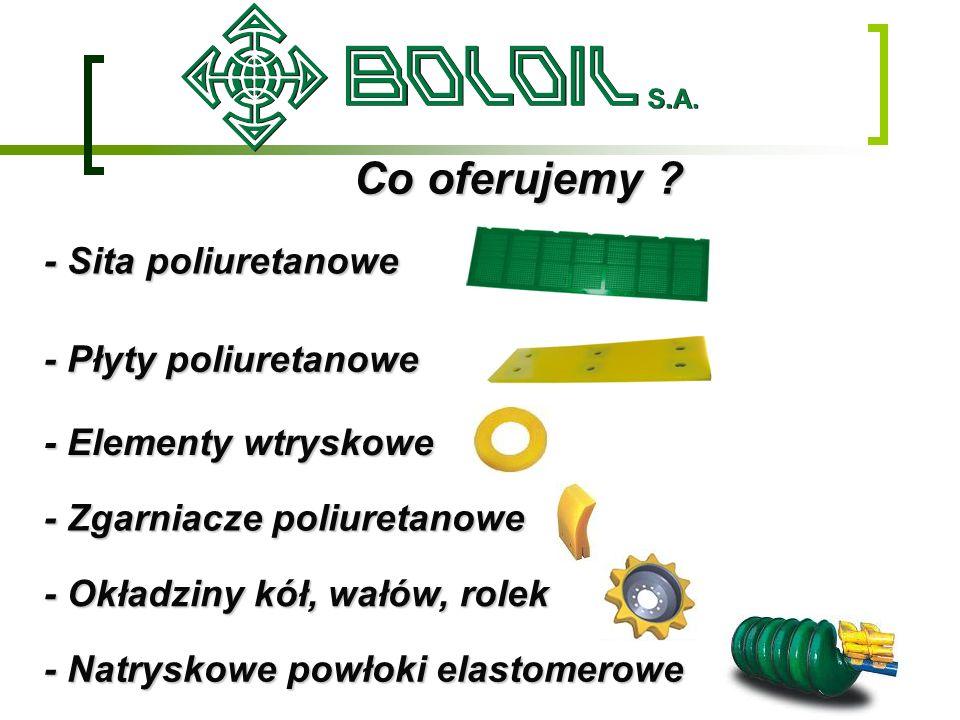 Co oferujemy - Sita poliuretanowe - Płyty poliuretanowe