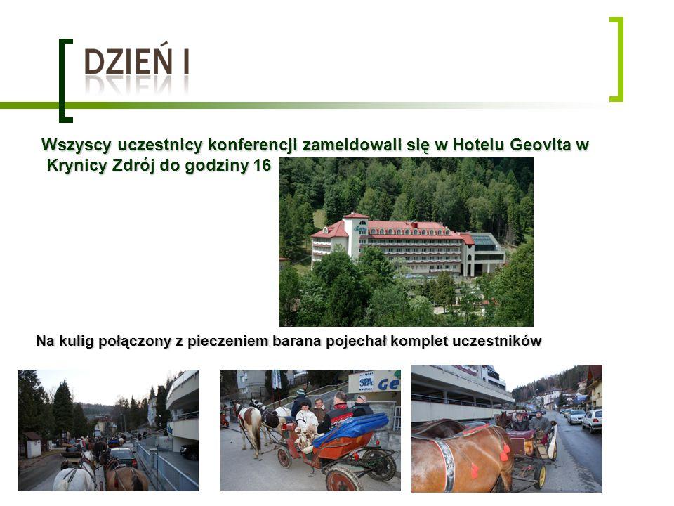 Wszyscy uczestnicy konferencji zameldowali się w Hotelu Geovita w