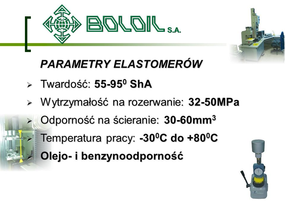 PARAMETRY ELASTOMERÓW