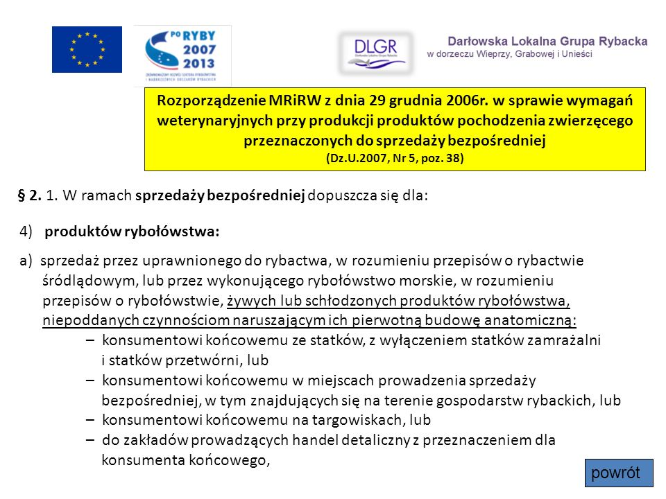 Rozporządzenie MRiRW z dnia 29 grudnia 2006r