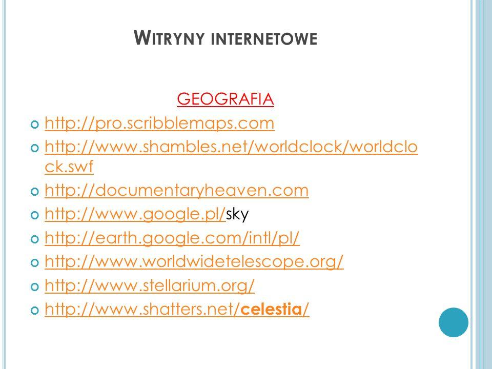 Witryny internetowe GEOGRAFIA http://pro.scribblemaps.com