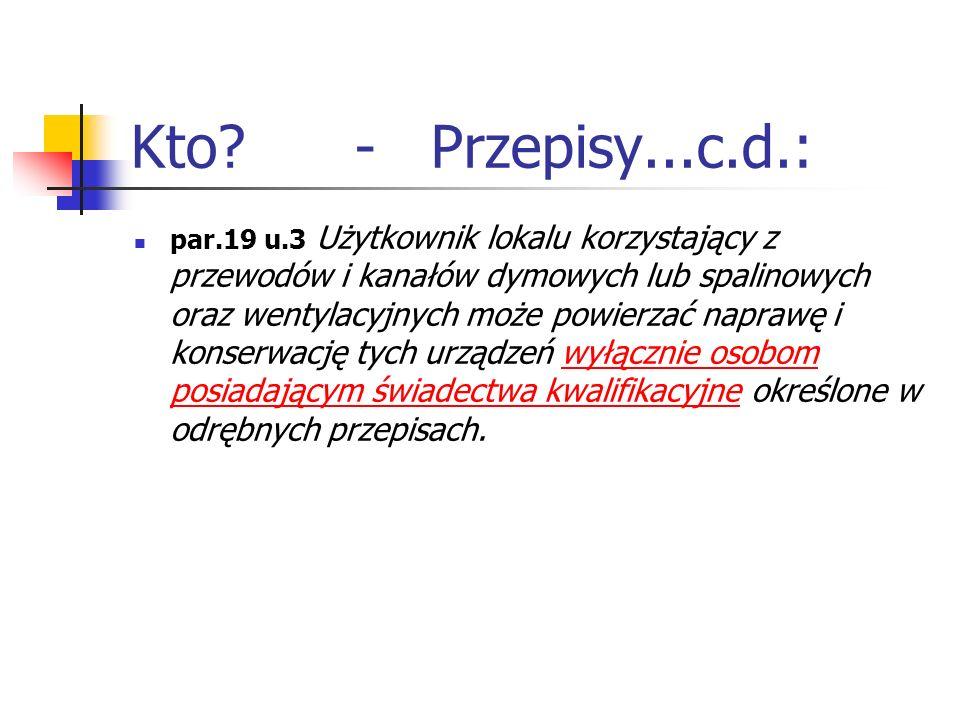 Kto - Przepisy...c.d.: