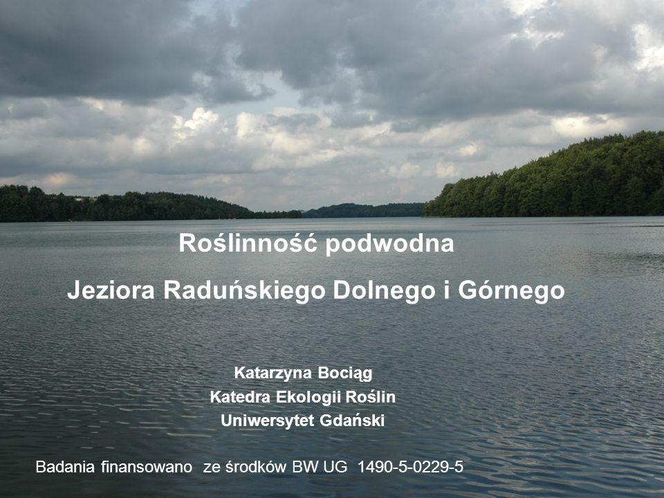 Roślinność podwodna Jeziora Raduńskiego Dolnego i Górnego