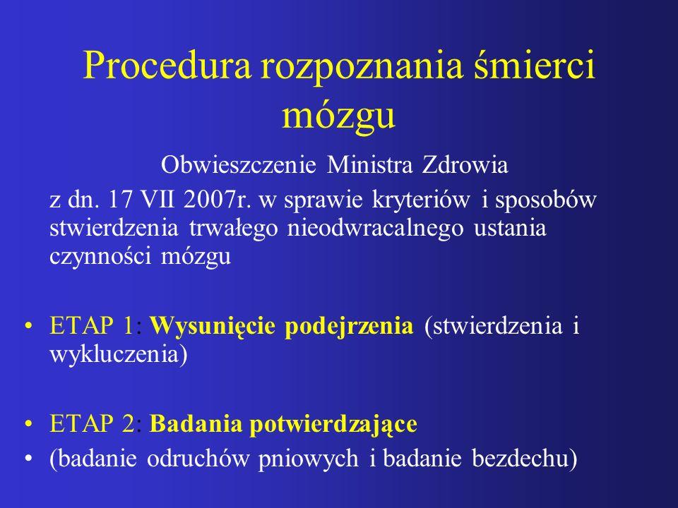 Procedura rozpoznania śmierci mózgu