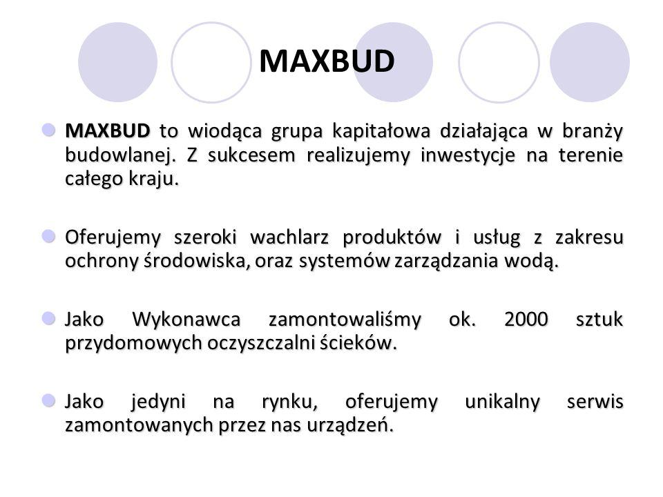 MAXBUD MAXBUD to wiodąca grupa kapitałowa działająca w branży budowlanej. Z sukcesem realizujemy inwestycje na terenie całego kraju.