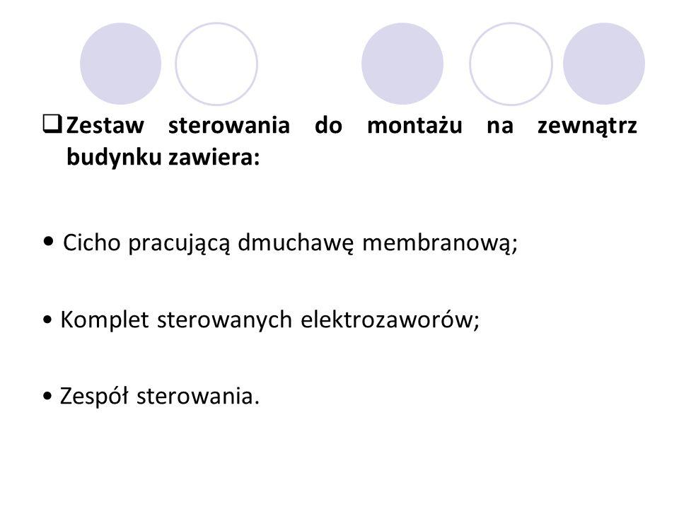 • Cicho pracującą dmuchawę membranową;