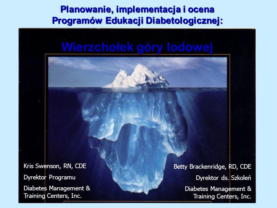 Planowanie, implementacja i ocena Programów Edukacji Diabetologicznej: Wierzchołek góry lodowej