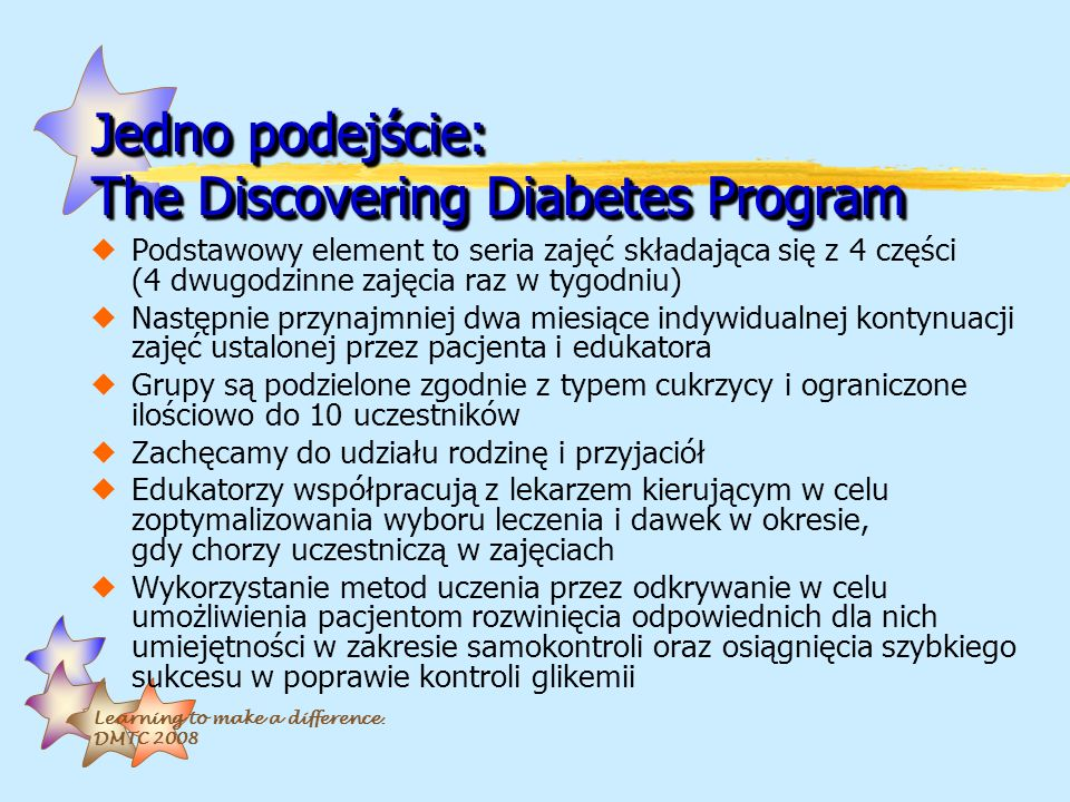 Jedno podejście: The Discovering Diabetes Program