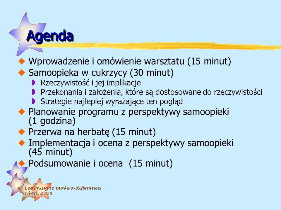 Agenda Wprowadzenie i omówienie warsztatu (15 minut)