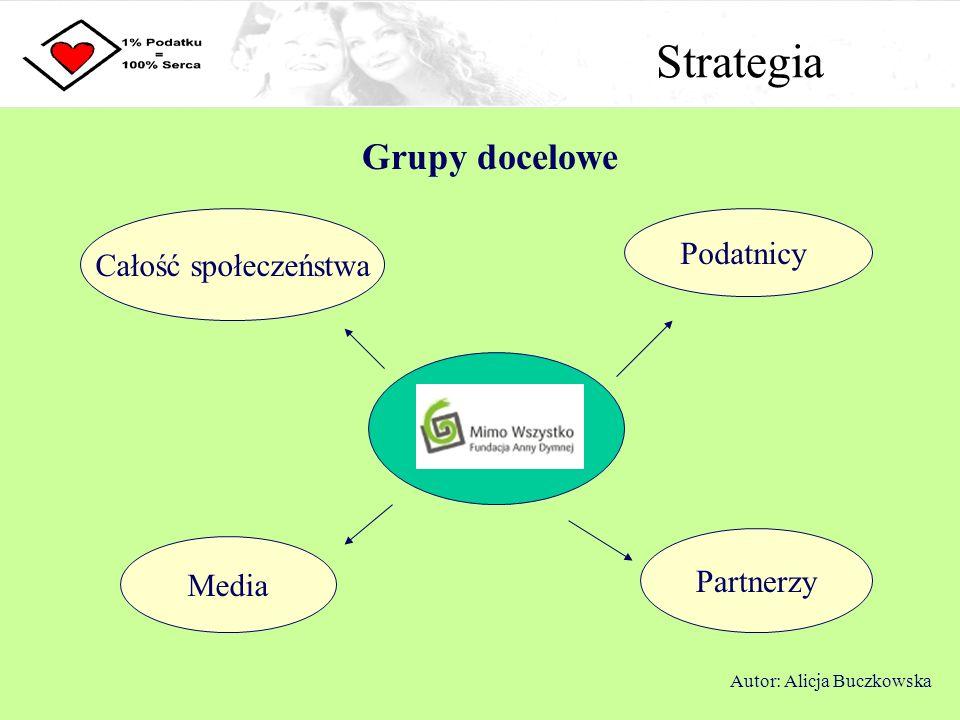 Strategia Grupy docelowe Podatnicy Całość społeczeństwa Partnerzy