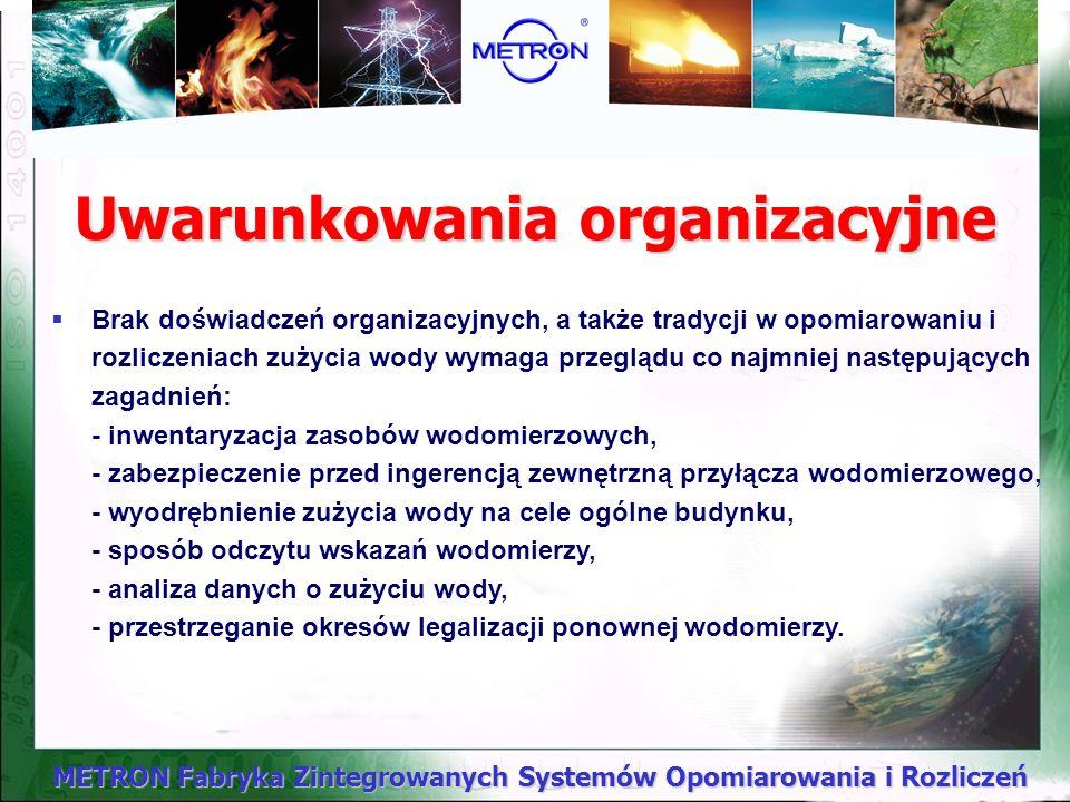 Uwarunkowania organizacyjne