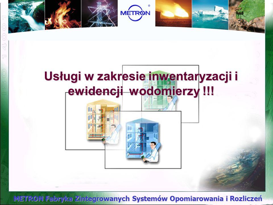 Usługi w zakresie inwentaryzacji i ewidencji wodomierzy !!!