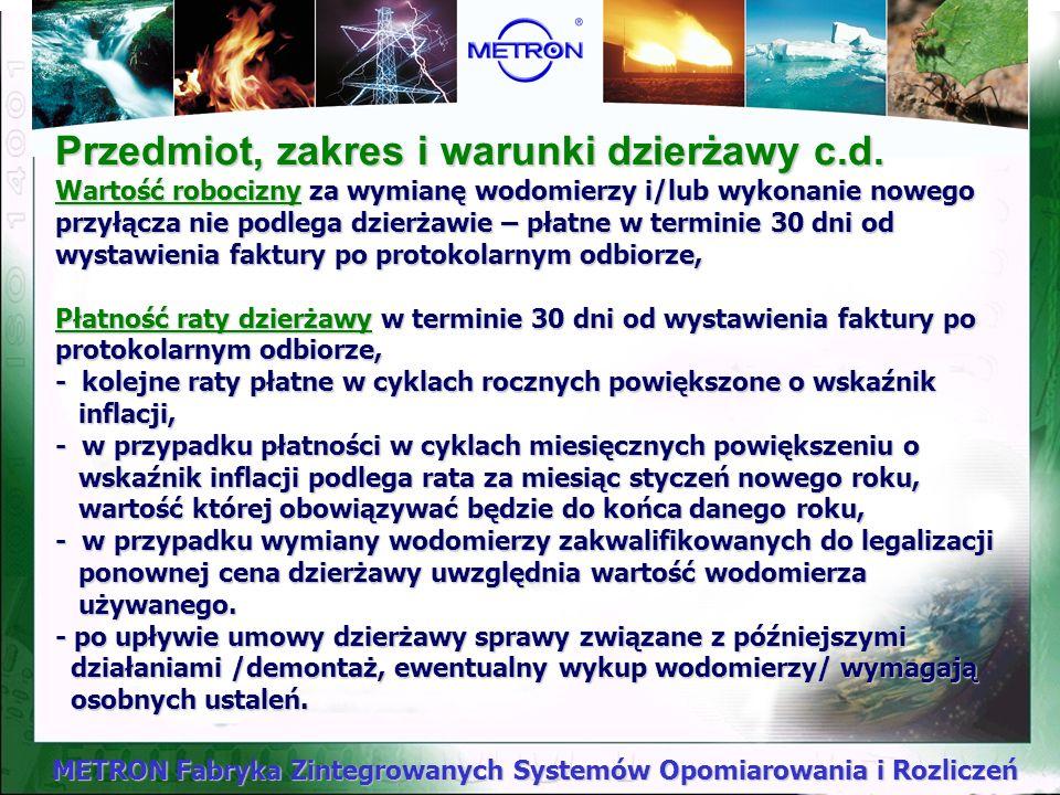 Przedmiot, zakres i warunki dzierżawy c. d
