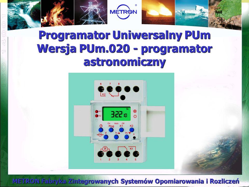 Programator Uniwersalny PUm Wersja PUm.020 - programator astronomiczny