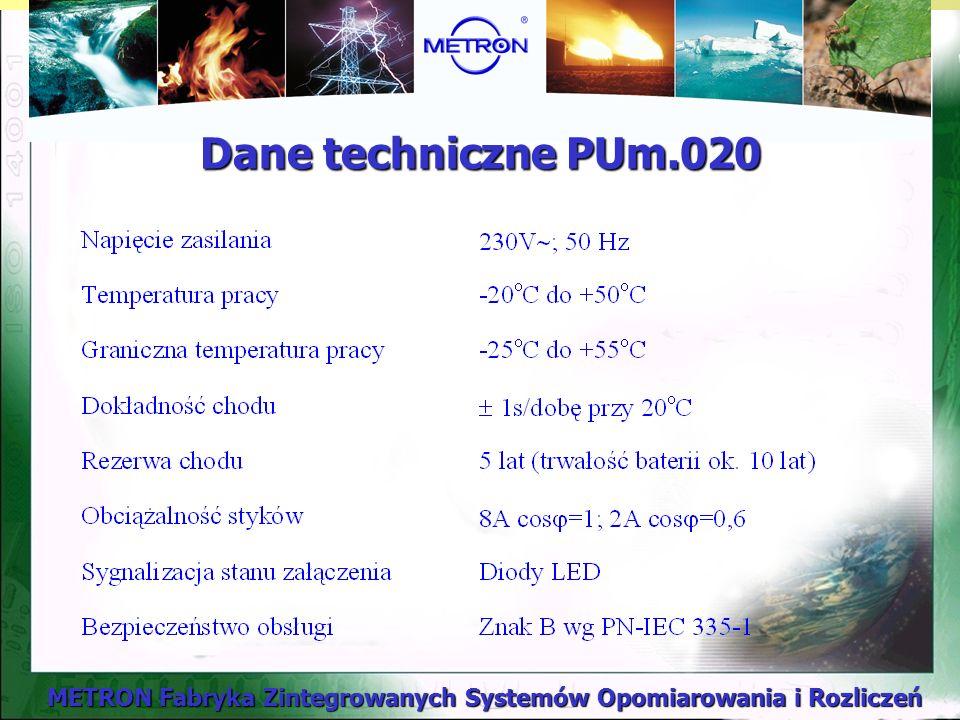 Dane techniczne PUm.020
