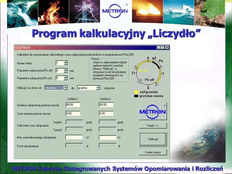 """Program kalkulacyjny """"Liczydło"""
