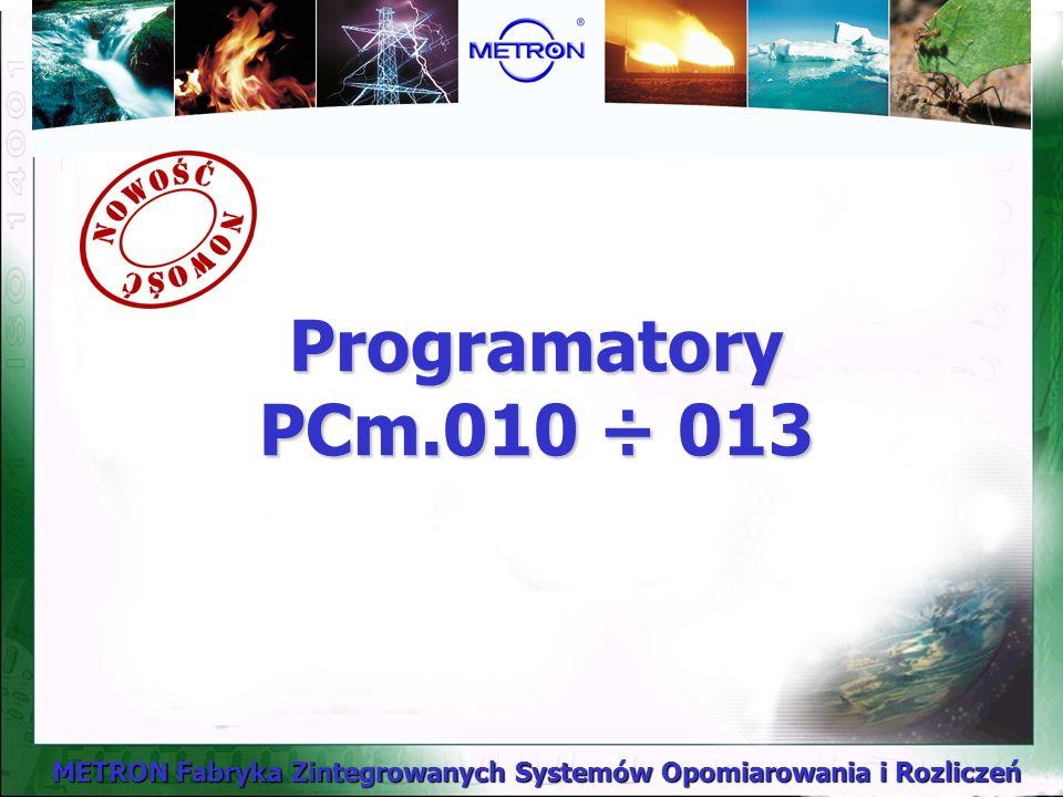 Programatory PCm.010 ÷ 013