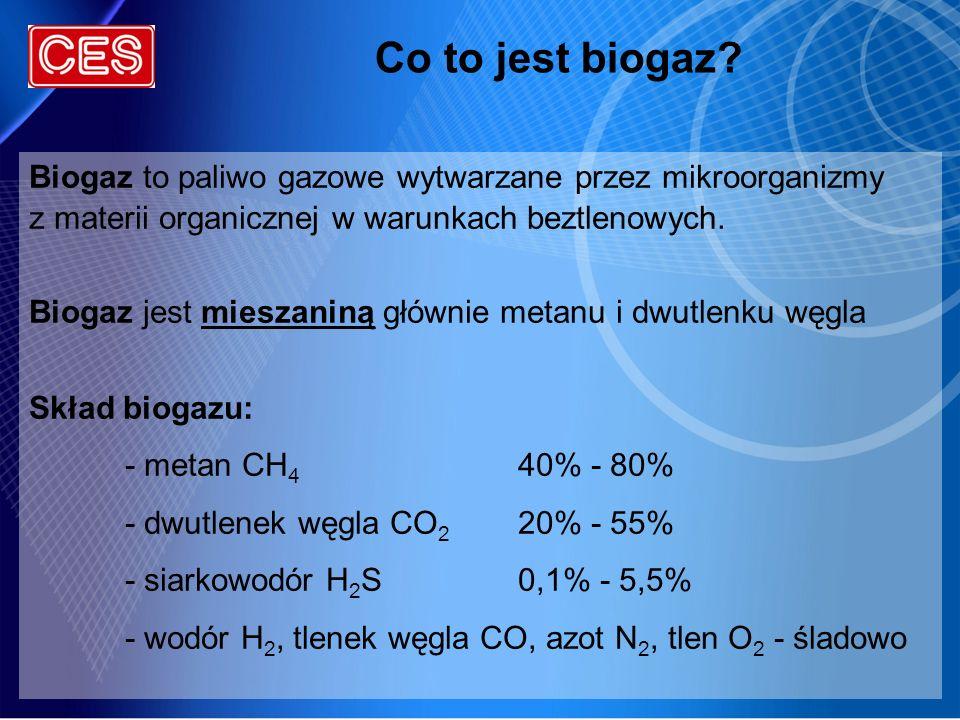 Co to jest biogaz Biogaz to paliwo gazowe wytwarzane przez mikroorganizmy. z materii organicznej w warunkach beztlenowych.