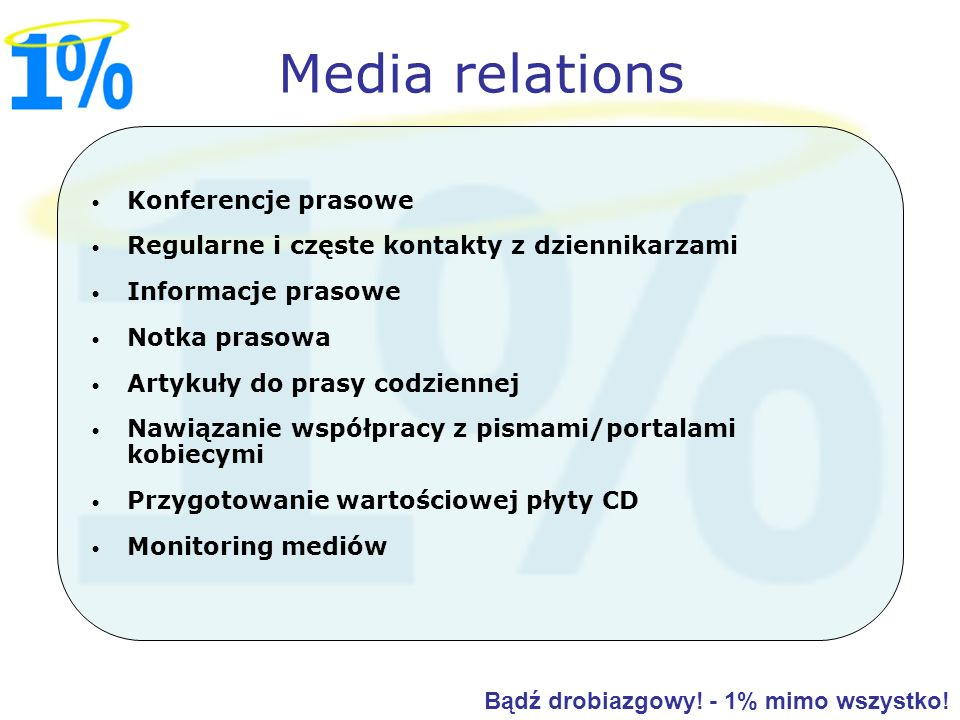 Media relations Konferencje prasowe