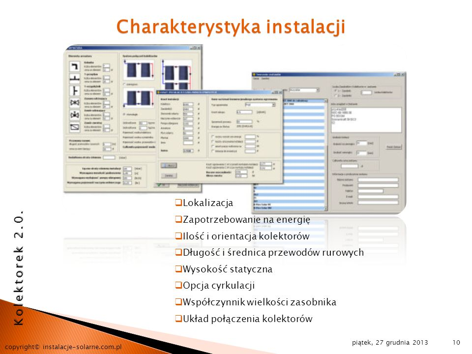 Charakterystyka instalacji