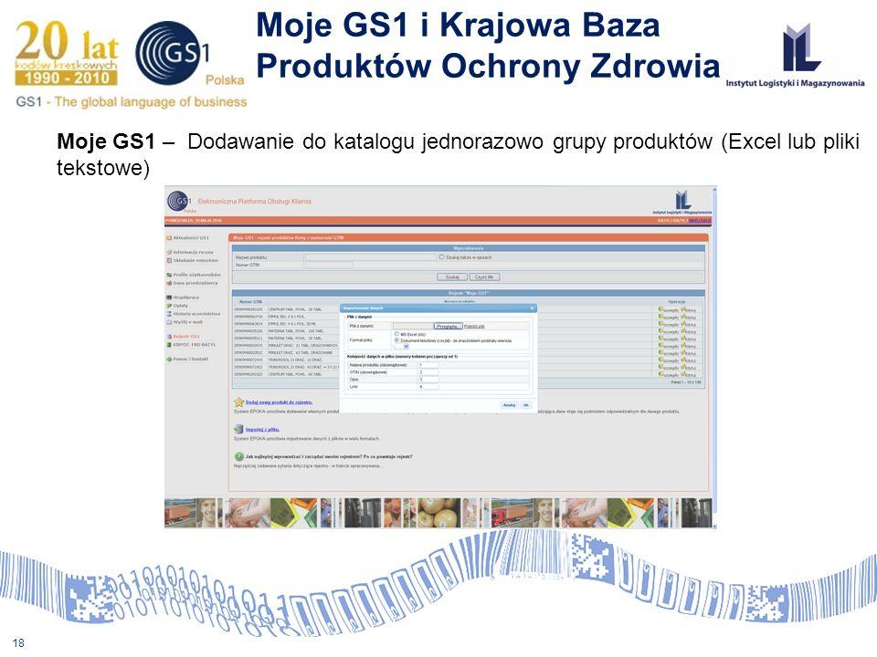 Moje GS1 i Krajowa Baza Produktów Ochrony Zdrowia