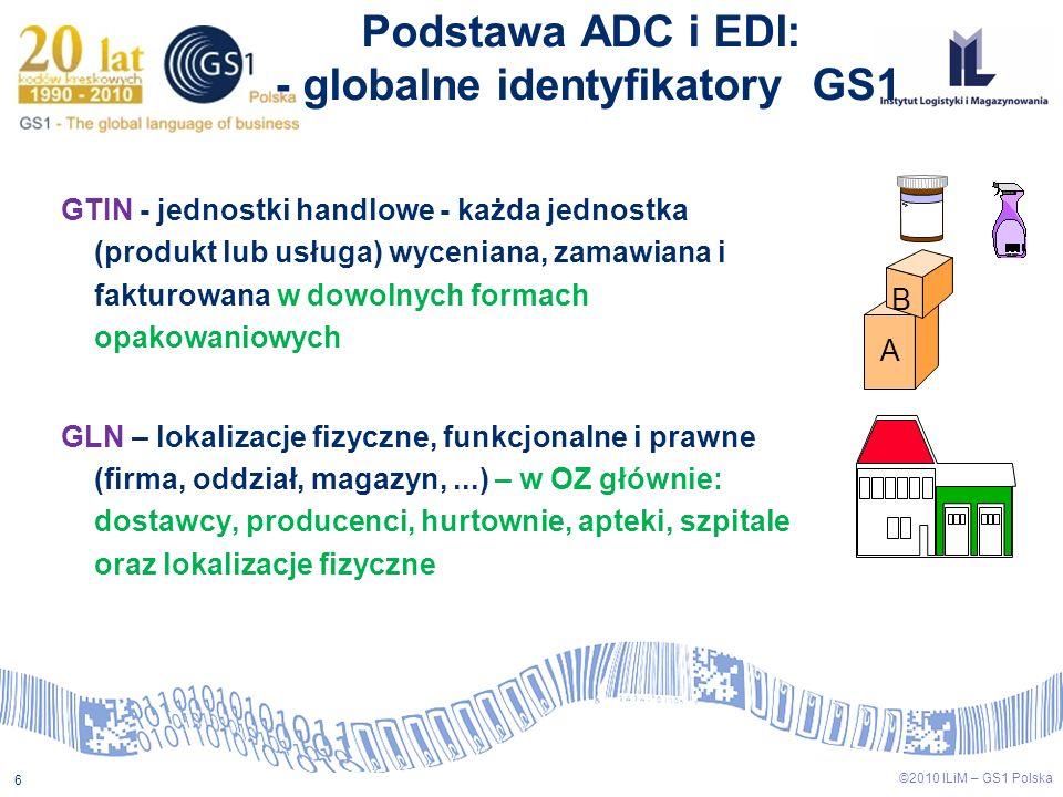 Podstawa ADC i EDI: - globalne identyfikatory GS1