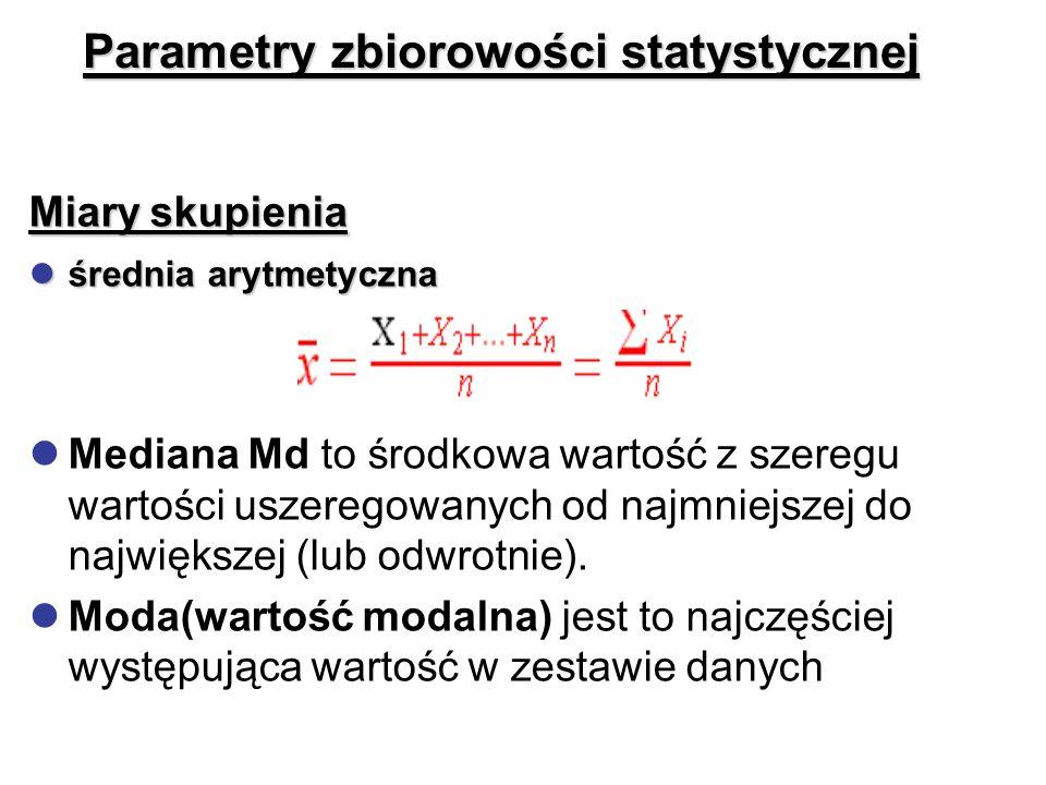 Parametry zbiorowości statystycznej